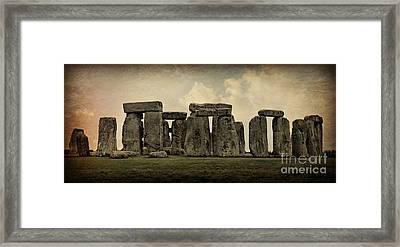 Stonehenge -- Mood 3 Framed Print by Stephen Stookey