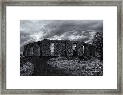 Stonehenge Of America Framed Print by Mike  Dawson