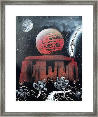 Stonehenge On An Alien World Framed Print by Thomas Roteman