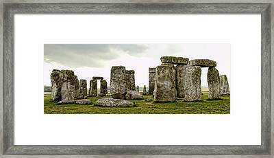 Stonehenge Panorama Framed Print by Jon Berghoff
