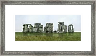 Stonehenge Panoramic - England Framed Print by Mike McGlothlen