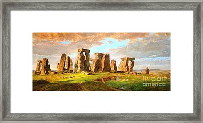 Stonehenge Framed Print by Pg Reproductions