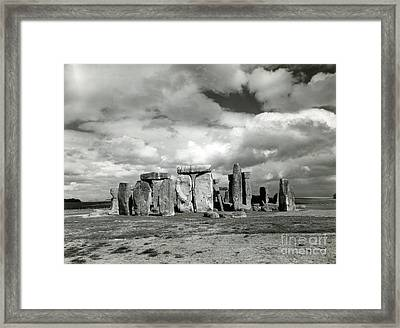Stonehenge Prehistoric Monument Framed Print by Science Source