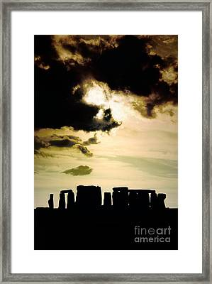 Stonehenge Prehistoric Stone Circle Stands On Salisbury Plain In Wiltshire England Framed Print