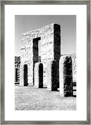 Framed Print featuring the photograph Stonehenge Replica by Chalet Roome-Rigdon