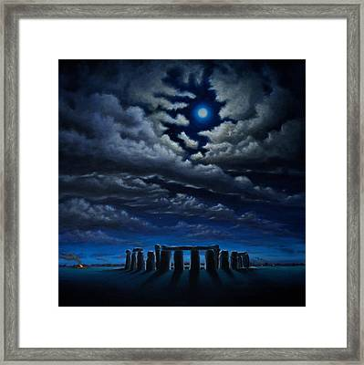 Stonehenge - The People's Circle Framed Print