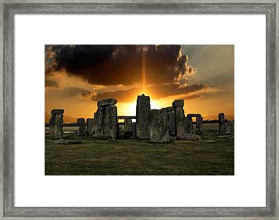 Stonehenge Wiltshire Uk Framed Print