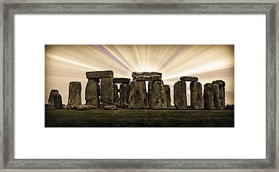 Stonehenge -- With Sunburst Framed Print