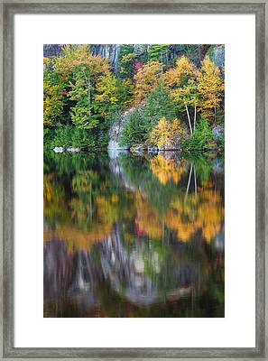 Stonehouse Pond Fall Reflections Framed Print