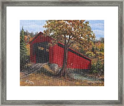 Stonelick Williams Corner Covered Bridge Clermont County Ohio 2 Framed Print by Rita Miller