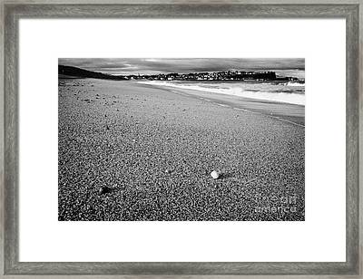 Stones And Pebbles On Ballycastle Beach In Winter County Antrim Northern Ireland Framed Print by Joe Fox