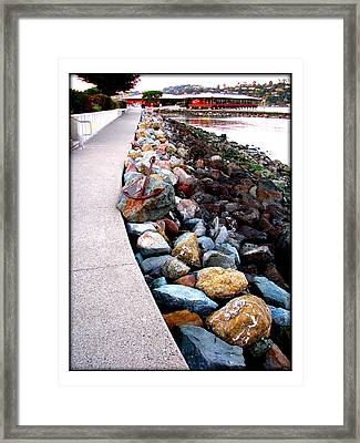 Stones At The Bay... Framed Print by Lisa Alex