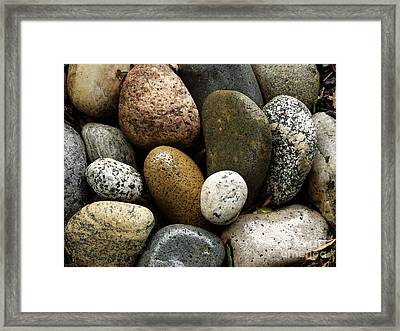 Framed Print featuring the photograph Stones by Carol Sweetwood