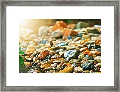 Stones Framed Print by Debbie Sikes