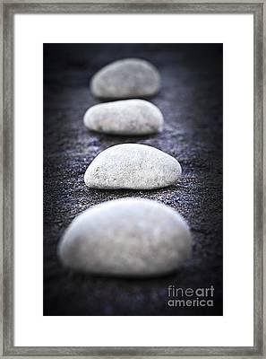 Stones Framed Print by Elena Elisseeva