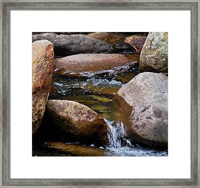 Stones Flow Framed Print by Christi Kraft