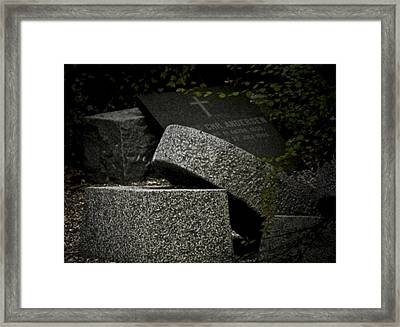 Stones In My Passway Framed Print