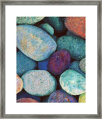 Stones In Pastel Framed Print by Antonia Citrino