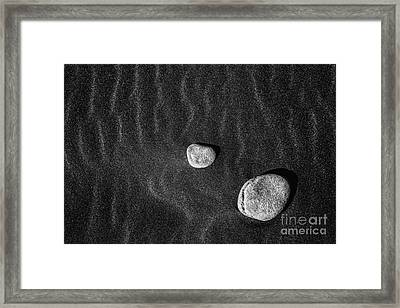 Framed Print featuring the photograph Stones In The Sand by Gunnar Orn Arnason