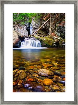 Stones In The Stream Framed Print
