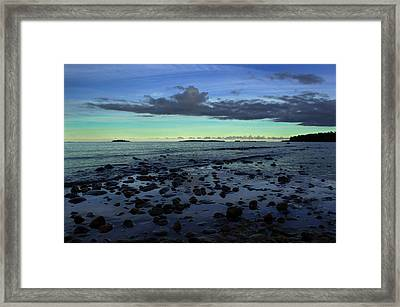 Stones In Water Framed Print by Oscar Karlsson
