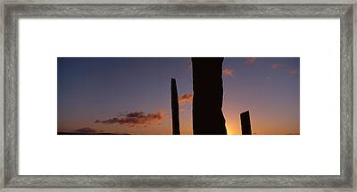 Stones Of Stenness, Orkney Islands Framed Print
