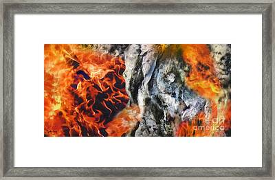 Stones On Fire 1 Framed Print