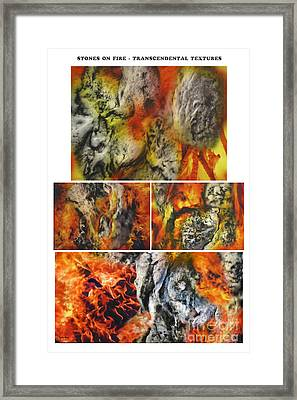 Stones On Fire Transcendental Textures Framed Print