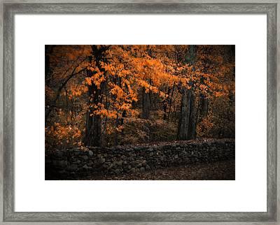Stonewall In Autumn Framed Print by GJ Blackman