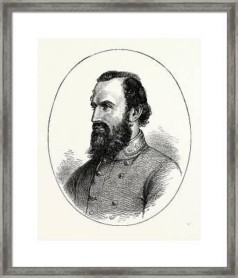 Stonewall Jackson, American Civil War, United States Framed Print