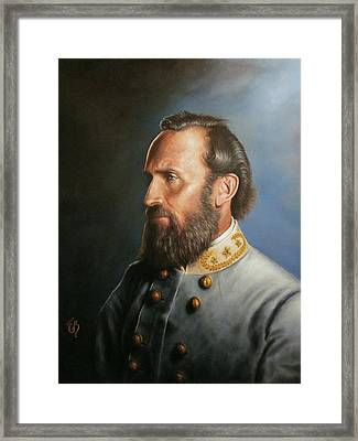 Framed Print featuring the painting Stonewall Jackson by Glenn Beasley
