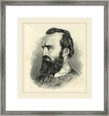Stonewall Jackson, Usa 19th Century Framed Print