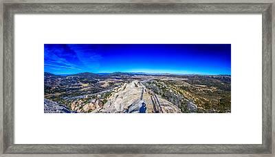 Stonewall Mountain Panorama Cuyamaca Ca Framed Print