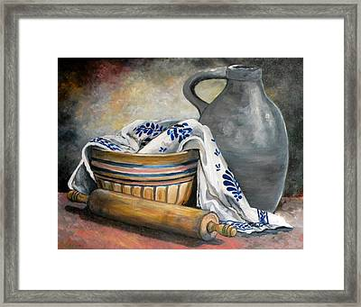Ready For Baking Framed Print by Eileen Patten Oliver