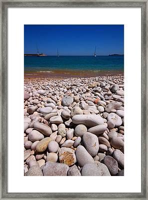 Stoney Beach Framed Print by FireFlux Studios
