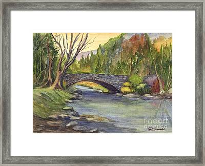 Autumn At Stoney Bridge Creek Framed Print by Carol Wisniewski