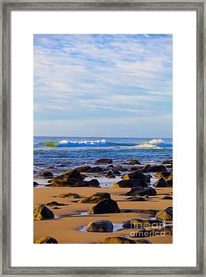 Stoney Shores Framed Print