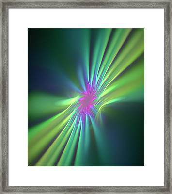 Stong Nuclear Force Conceptual Artwork Framed Print by David Parker