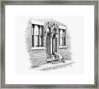 Stoning Steps Middleport Framed Print
