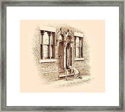 Stoning The Steps Framed Print