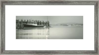 Stonington Harbor Framed Print by Chad Tracy