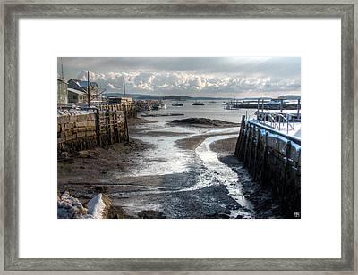 Stonington Low Tide Framed Print