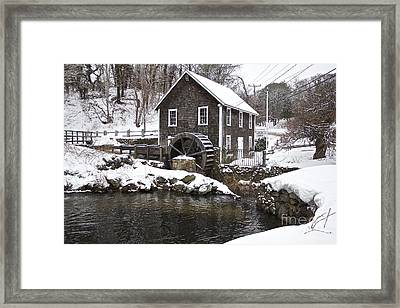 Stony Brook Grist Mill Of Brewster Framed Print by Amazing Jules