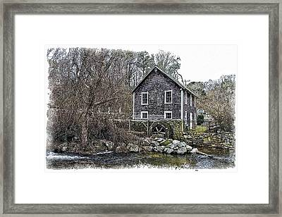 Stony Brook Gristmill Framed Print by Constantine Gregory