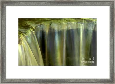 Stony Brook Waterfall Abstract Framed Print by Adam Jewell