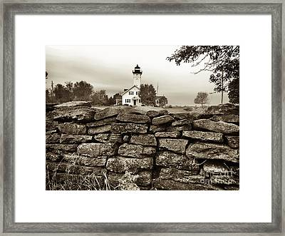 Stony Point Lighthouse Framed Print by Tony Cooper