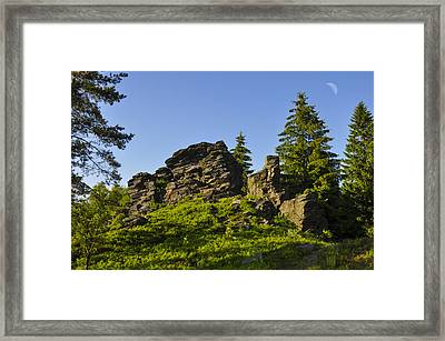 Stony Summit  Framed Print