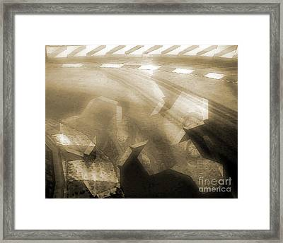 Stood A Man On The Corner. Framed Print