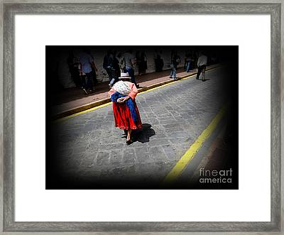 Stooped But Proud Framed Print