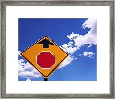 Stop Ahead Framed Print by Rona Black
